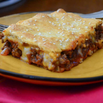 sloppy joe squares are a great lunch with braces